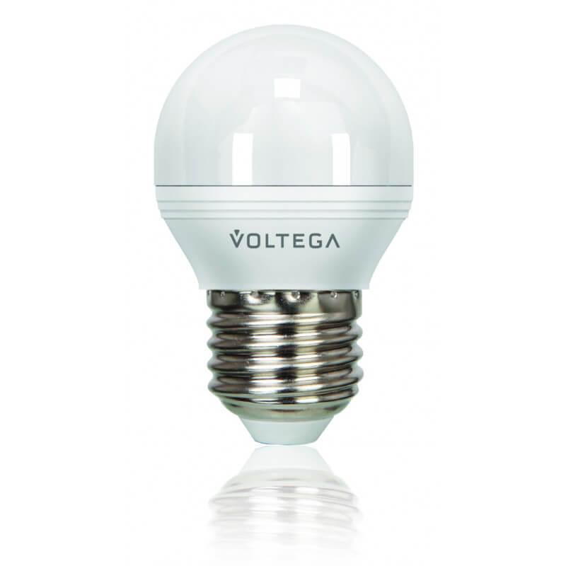 Лампа светодиодная диммируемая Voltega E27 6W 4000К матовая VG2-G2E27cold6W-D 5496 ретро лампа 5928 voltega