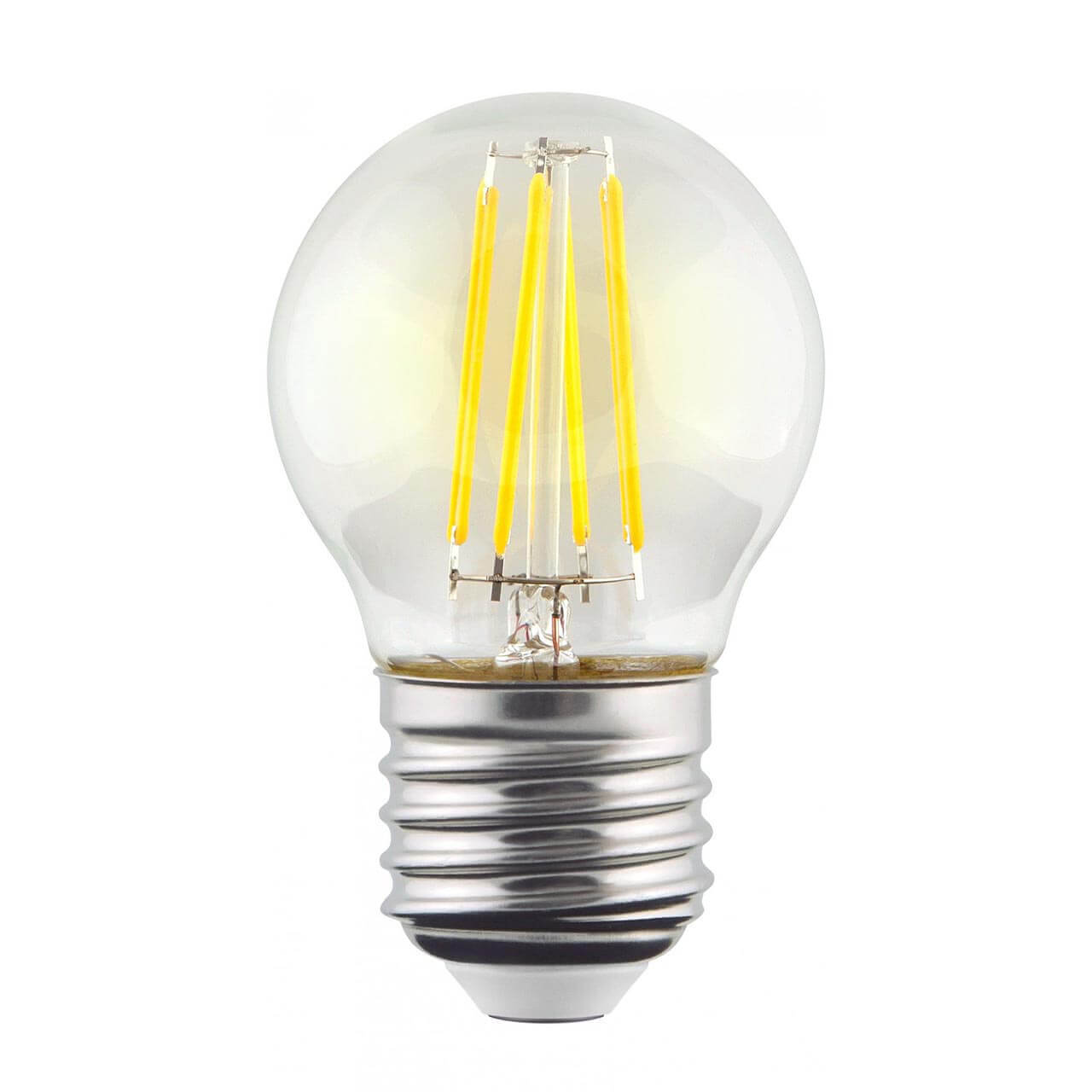 Лампа светодиодная филаментная Voltega E27 9W 2800К прозрачная VG10-G1E27warm9W-F 7106 лампа светодиодная филаментная voltega e14 6w 2800к прозрачная vg10 cc1e14warm6w f 7027
