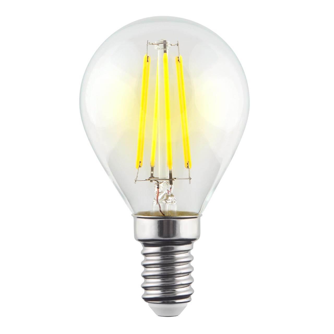 Лампа светодиодная филаментная Voltega E14 9W 2800К прозрачная VG10-G1E14warm9W-F 7098 лампа светодиодная филаментная voltega e14 6w 2800к прозрачная vg10 cc1e14warm6w f 7027