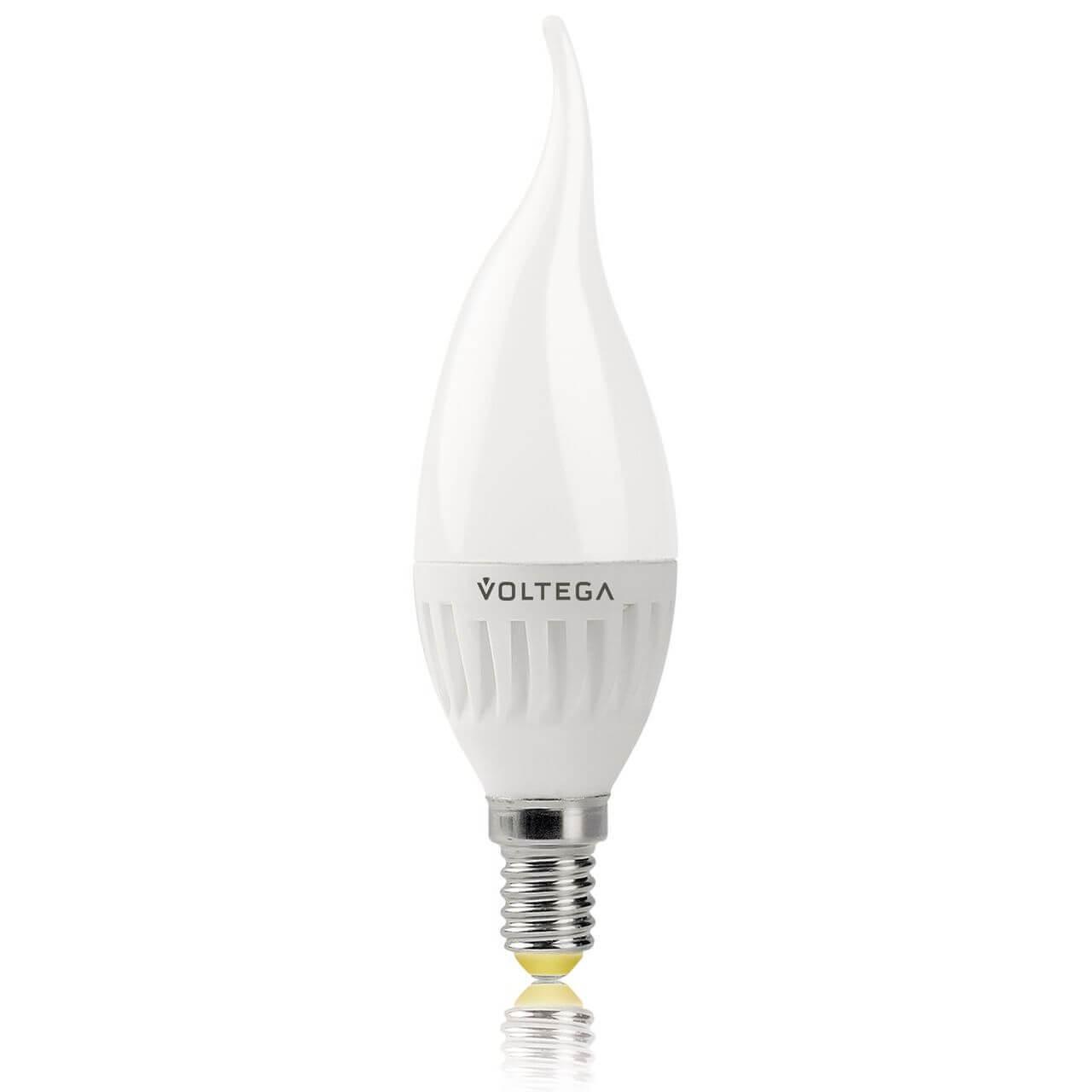 Лампа светодиодная Voltega E14 6W 2800К матовая VG1-CW2E14warm6W-C 5719 ретро лампа 5928 voltega