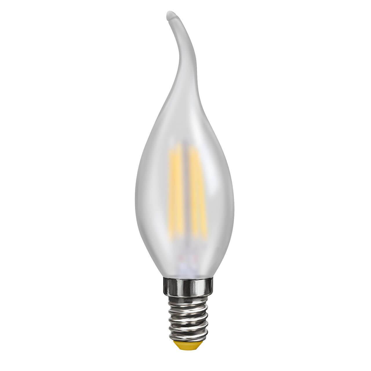 Лампа светодиодная филаментная Voltega E14 4W 4000К матовая VG10-CW2E14cold4W-F 7007 ретро лампа 5928 voltega