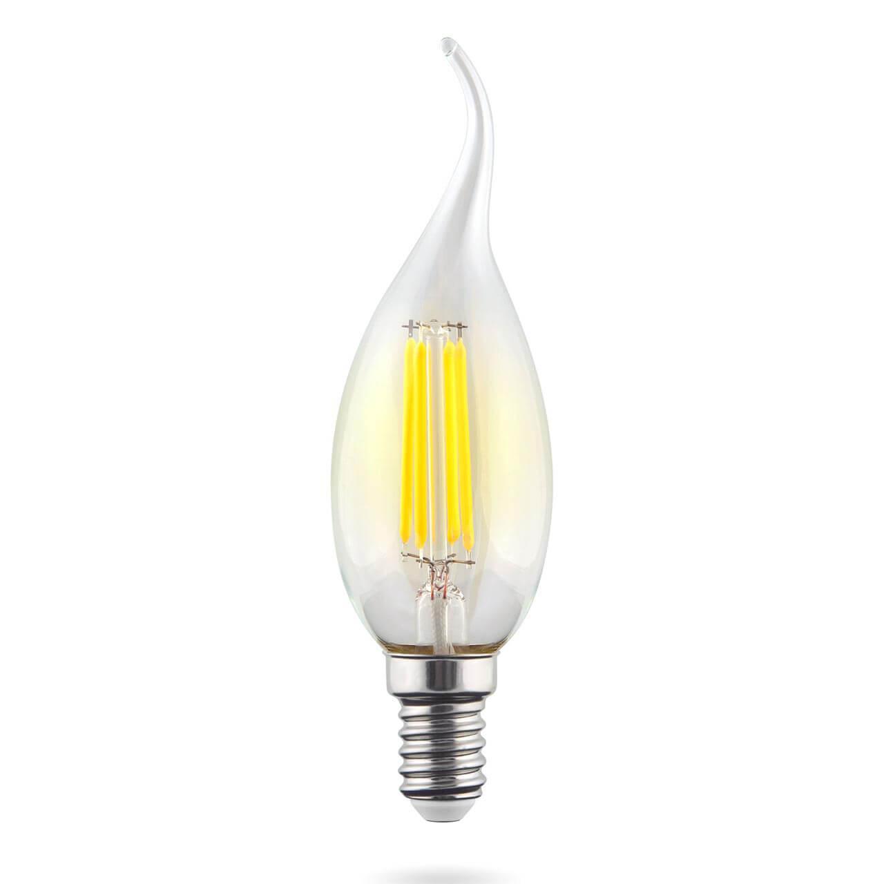 Лампа светодиодная филаментная Voltega E14 9W 4000К прозрачная VG10-CW1E14cold9W-F 7095 voltega лампа светодиодная voltega рефлектор матовый e14 5 4w 4000к vg4 rm2e14cold5w 5756