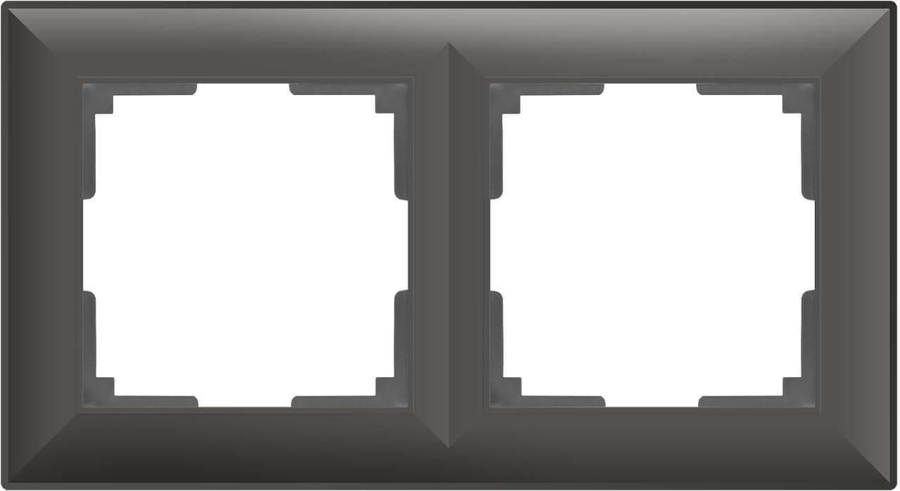 цена Рамка Fiore на 2 поста серо-коричневый WL14-Frame-02 4690389109096 онлайн в 2017 году