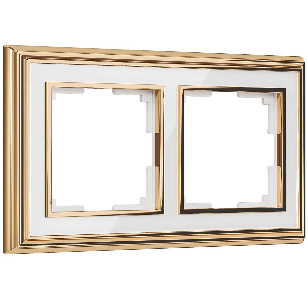 Рамка Werkel 4690389159152 Palacio золото/белый