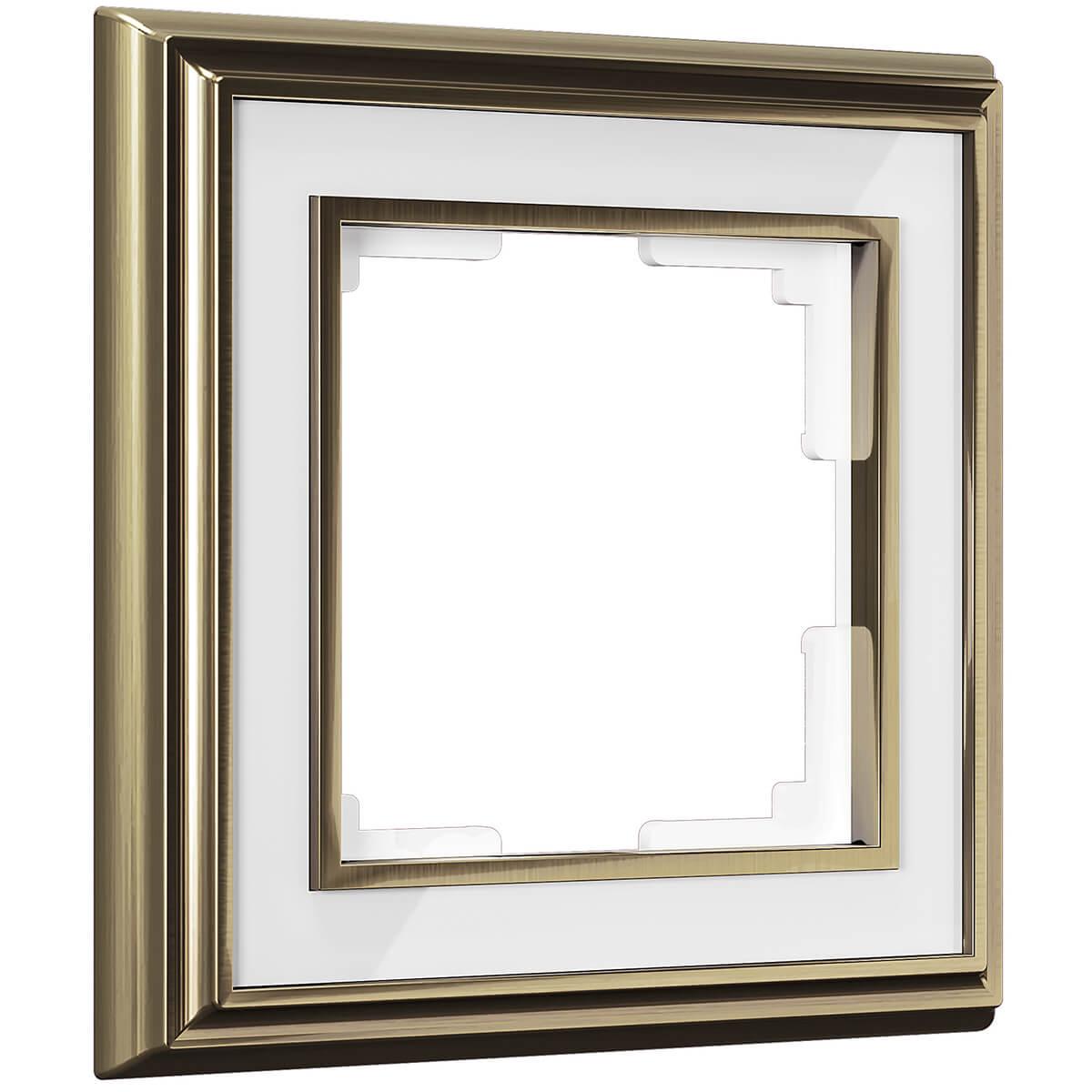 Рамка Palacio на 1 пост бронза/белый WL17-Frame-01 469038910355 рамка palacio на 1 пост золото белый wl17 frame 01 4690389103575