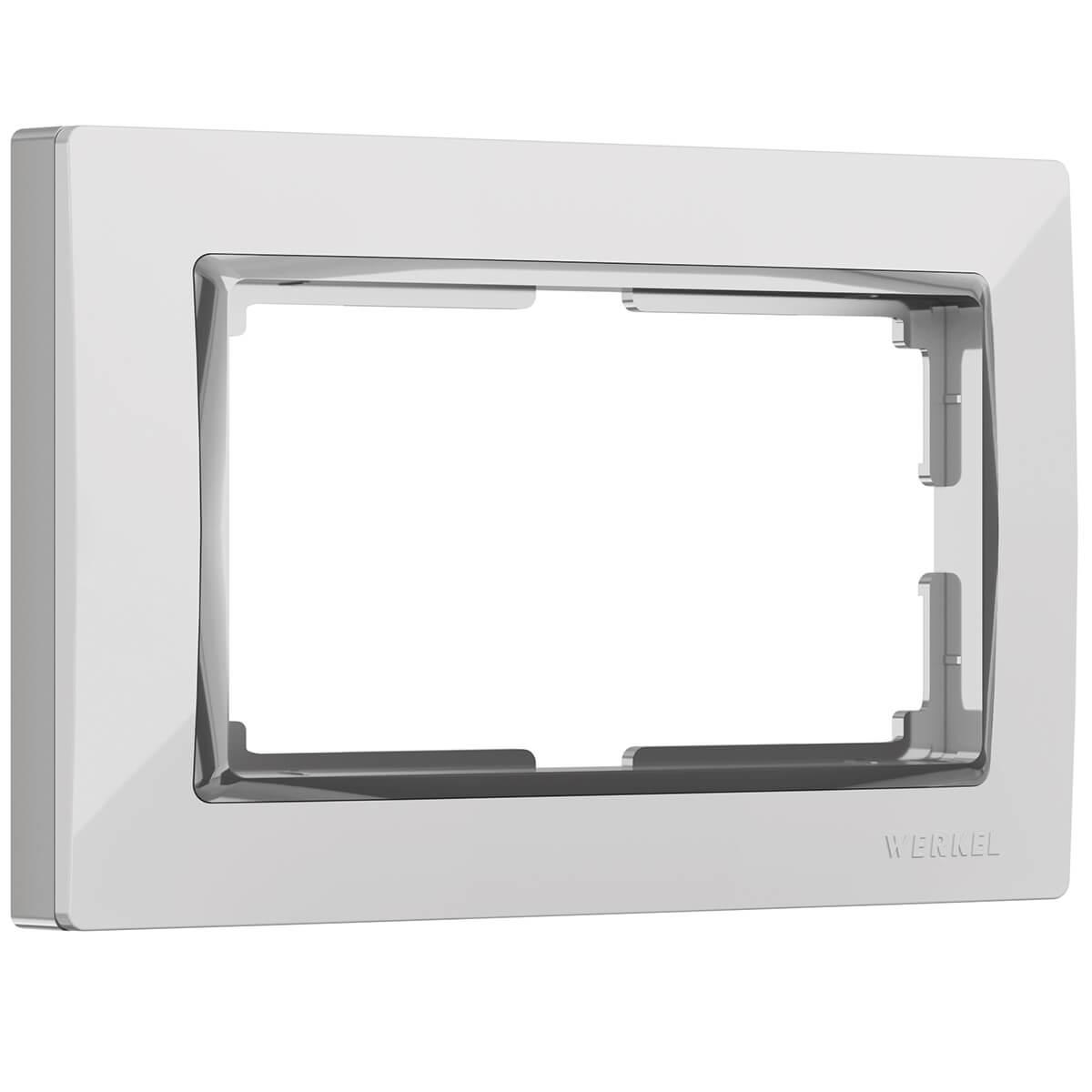 цена на Рамка Snabb для двойной розетки белый WL03-Frame-01-DBL-white 4690389073137