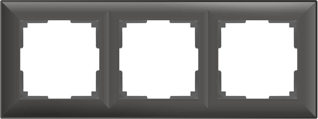 цена Рамка Fiore на 3 поста серо-коричневый WL14-Frame-03 4690389109133 онлайн в 2017 году