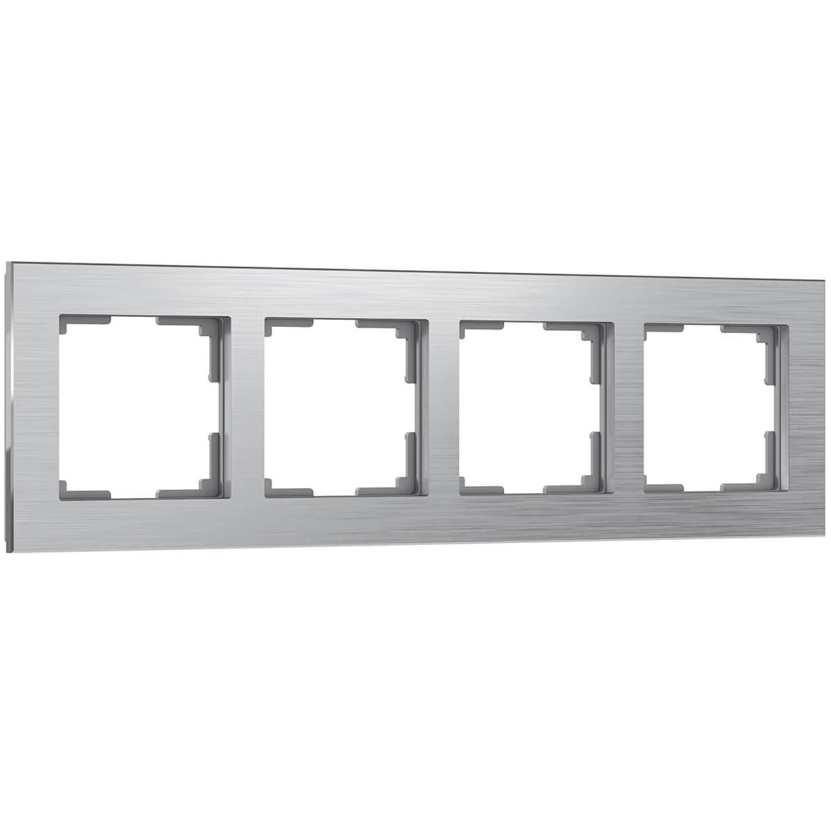 Рамка Aluminium на 4 поста алюминий WL11-Frame-04 4690389073663 цена
