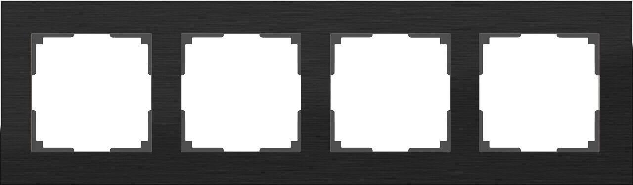 Рамка Werkel 4690389110474 Aluminium Black