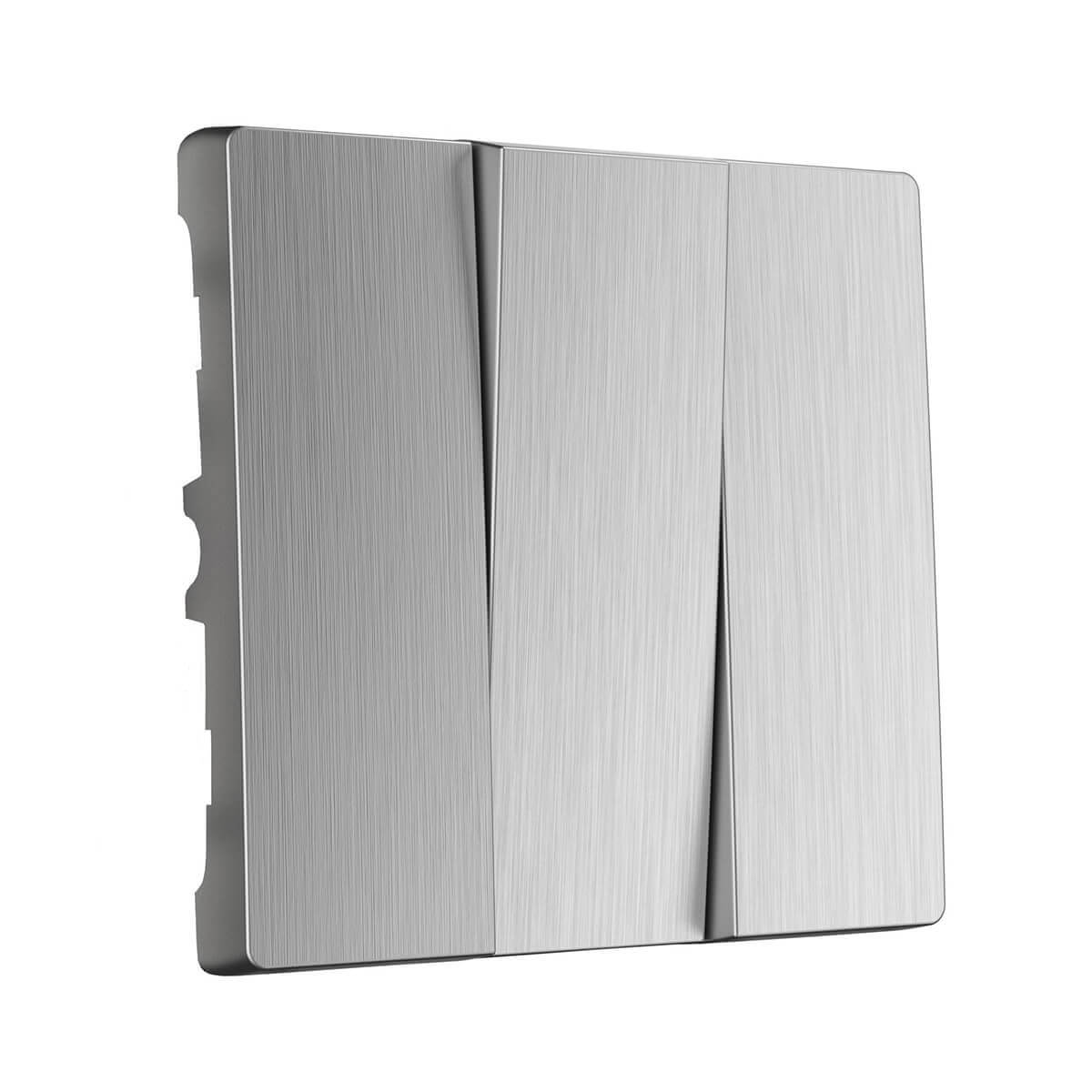 цены Лицевая панель Werkel 4690389100345 Серебряный рифленый