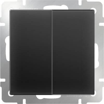 Выключатель Werkel 4690389054150 Черный матовый фото