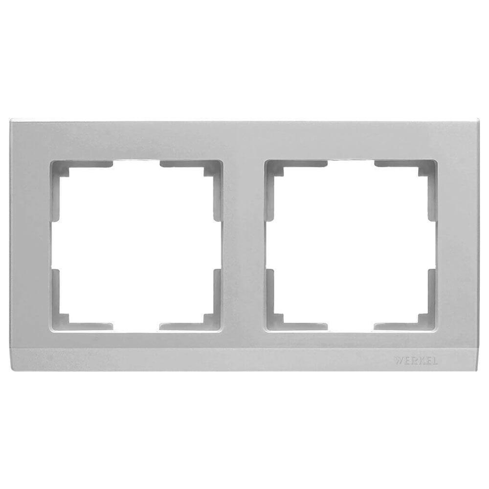 цена на Рамка Stark на 2 поста серебряный WL04-Frame-02 4690389063695