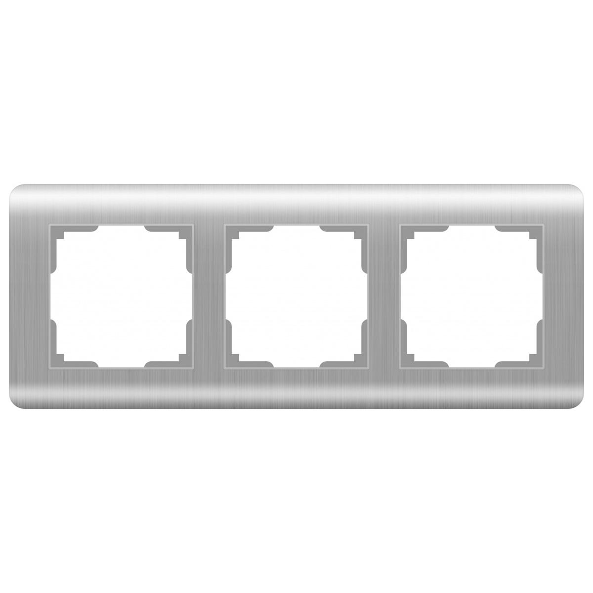 цена Рамка Stream на 3 поста серебряный WL12-Frame-03 4690389076381 онлайн в 2017 году