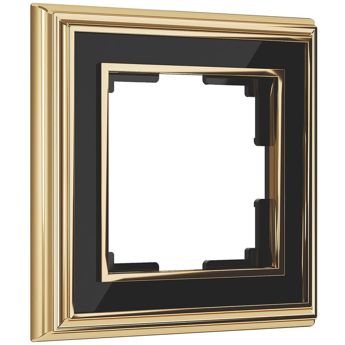 Рамка Palacio на 1 пост золото/черный WL17-Frame-01 4690389103582 рамка palacio на 1 пост золото белый wl17 frame 01 4690389103575