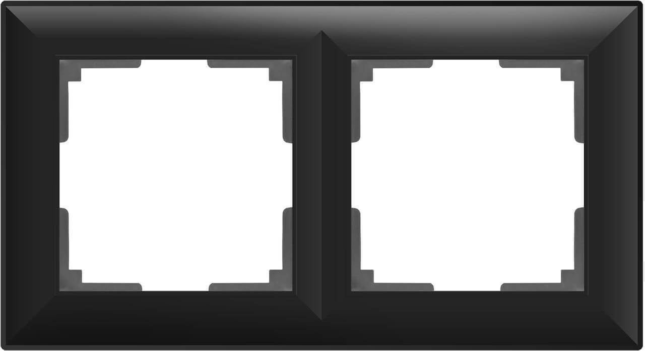 цена Рамка Fiore на 2 поста черный матовый WL14-Frame-02 4690389109102 онлайн в 2017 году
