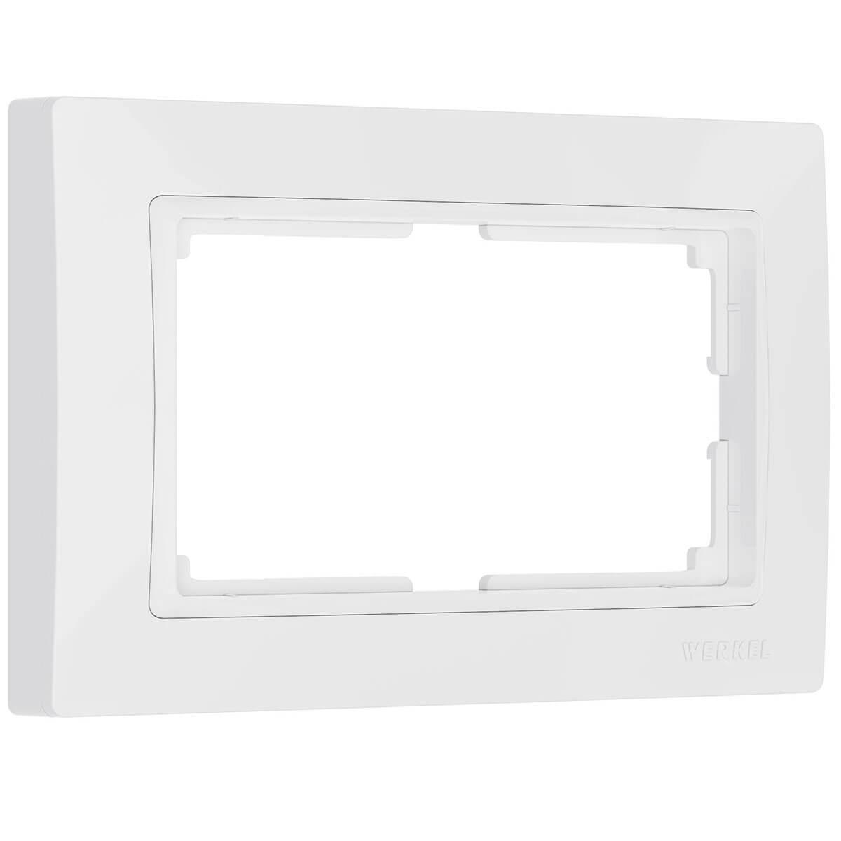 цена на Рамка Snabb для двойной розетки белый basic WL03-Frame-01-DBL-white 4690389117008