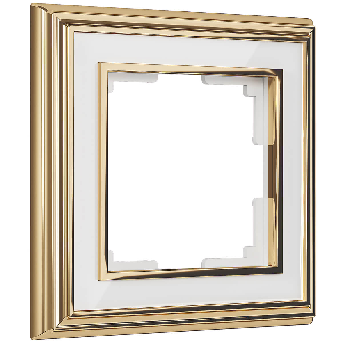 Рамка Palacio на 1 пост золото/белый WL17-Frame-01 4690389103575 рамка palacio на 1 пост золото белый wl17 frame 01 4690389103575