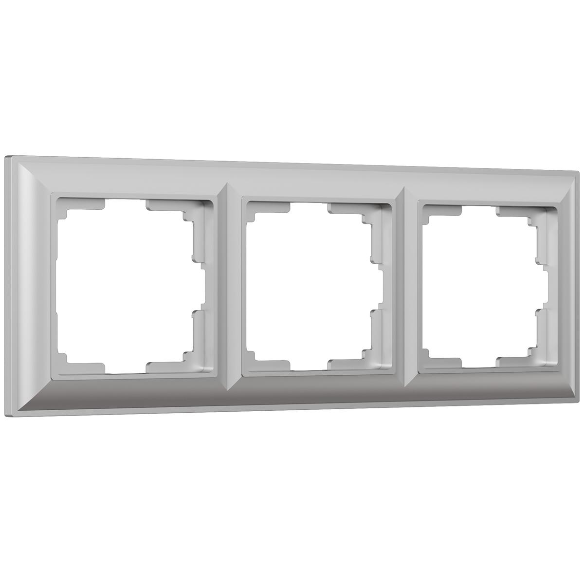 цена Рамка Fiore на 3 поста серебряный WL14-Frame-03 4690389109126 онлайн в 2017 году