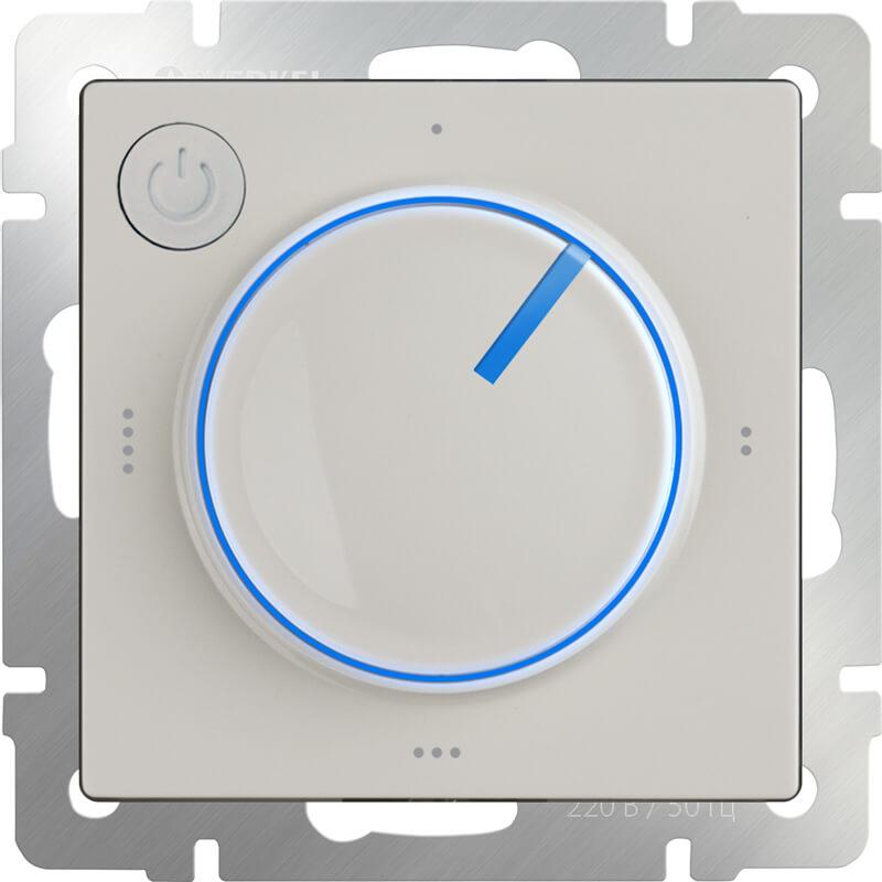 Терморегулятор электромеханический для теплого пола Werkel WL03-40-01 слоновая кость 4690389132698 цены онлайн