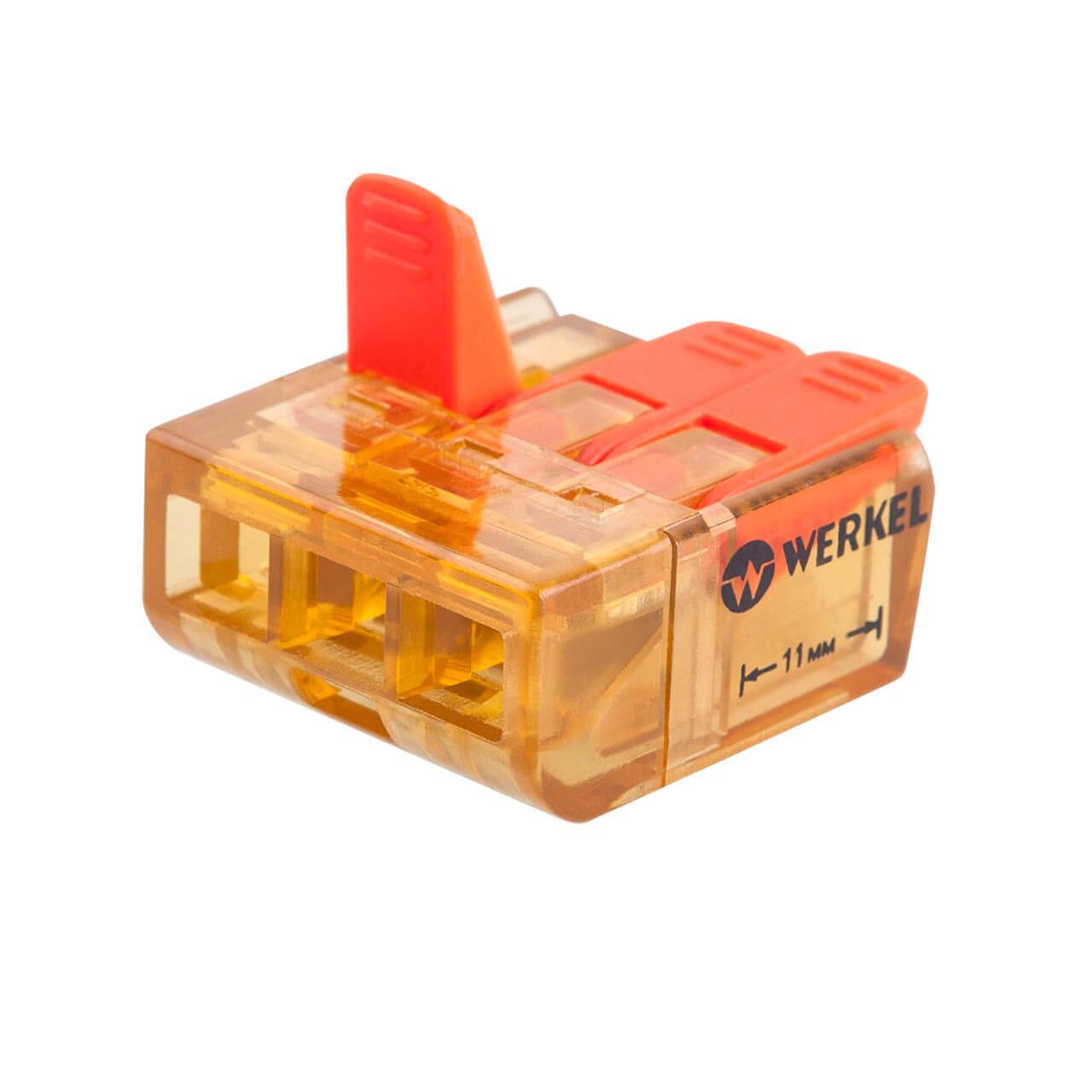 Клемма соединительная Werkel 3-проводная 5 шт TR-02-03 14690389107365 клемма соединительная werkel 3 проводная 5 шт tr 02 02 14690389107358