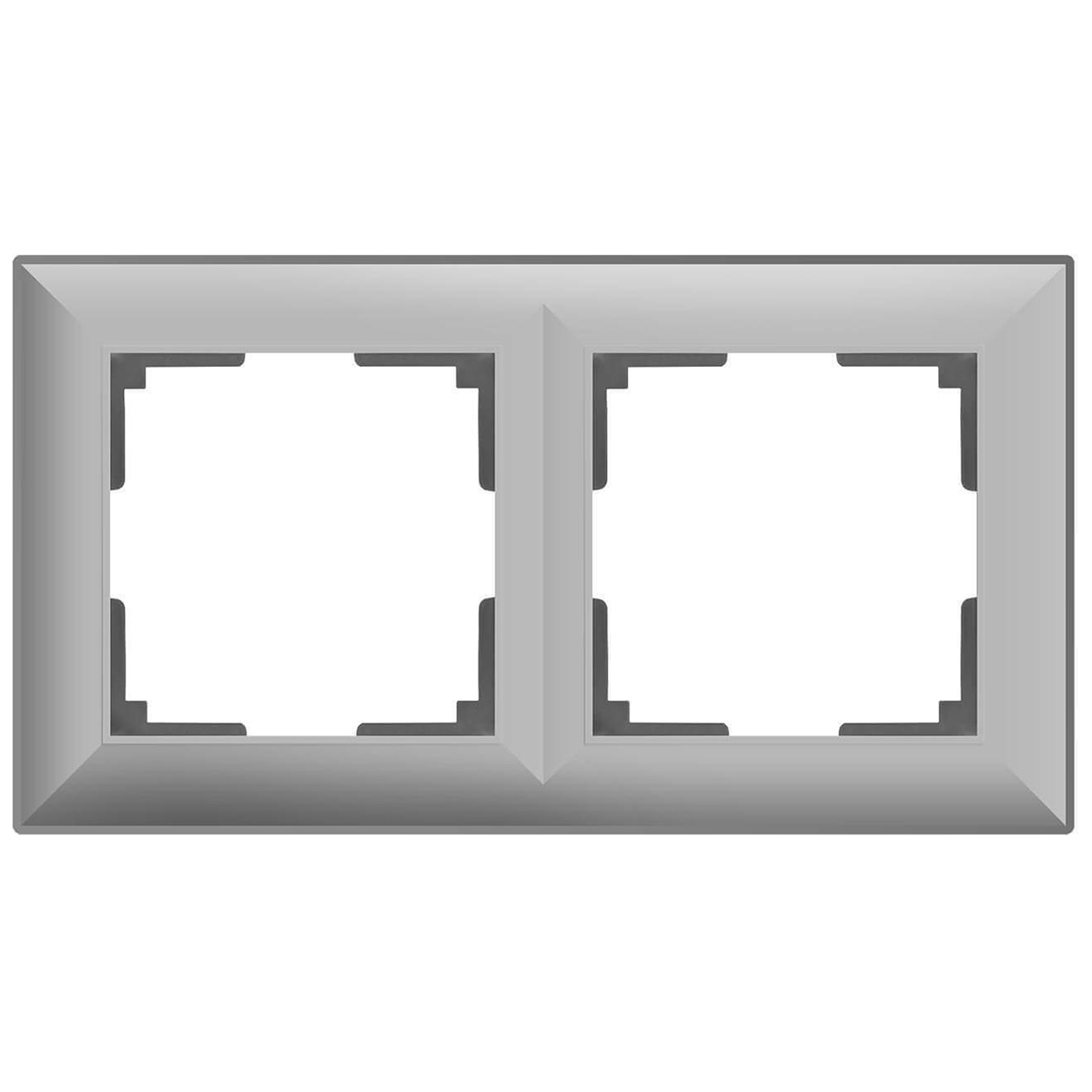 цена Рамка Fiore на 2 поста серебряный WL14-Frame-02 4690389109089 онлайн в 2017 году