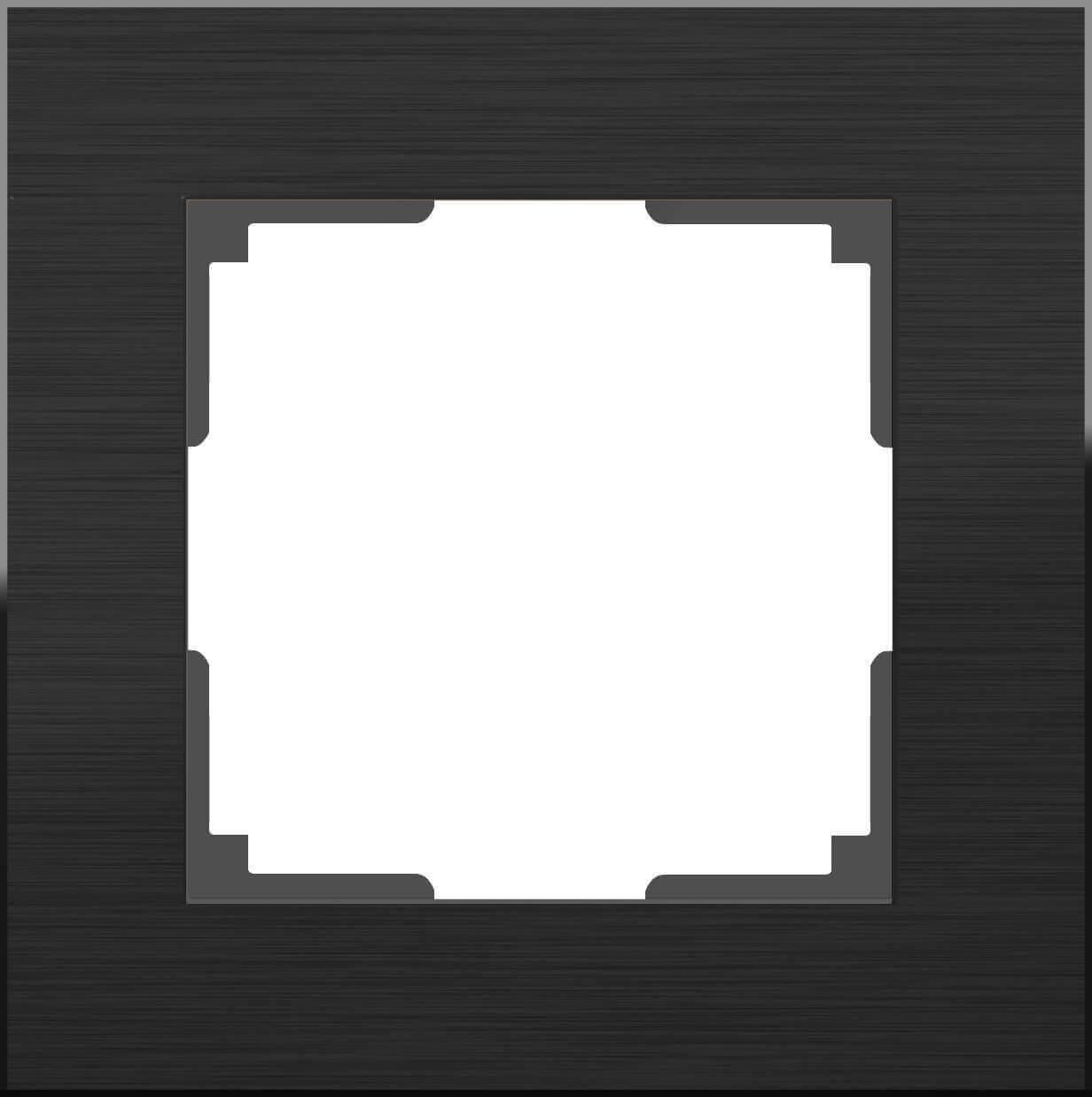 Рамка Werkel 4690389110443 Aluminium Black