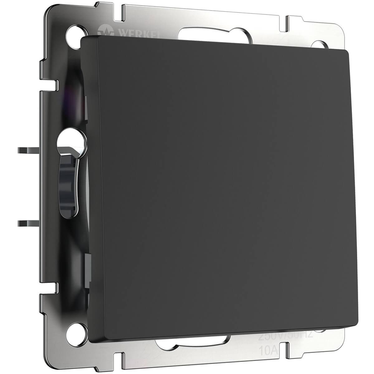 Выключатель Werkel 4690389156588 Черный матовый