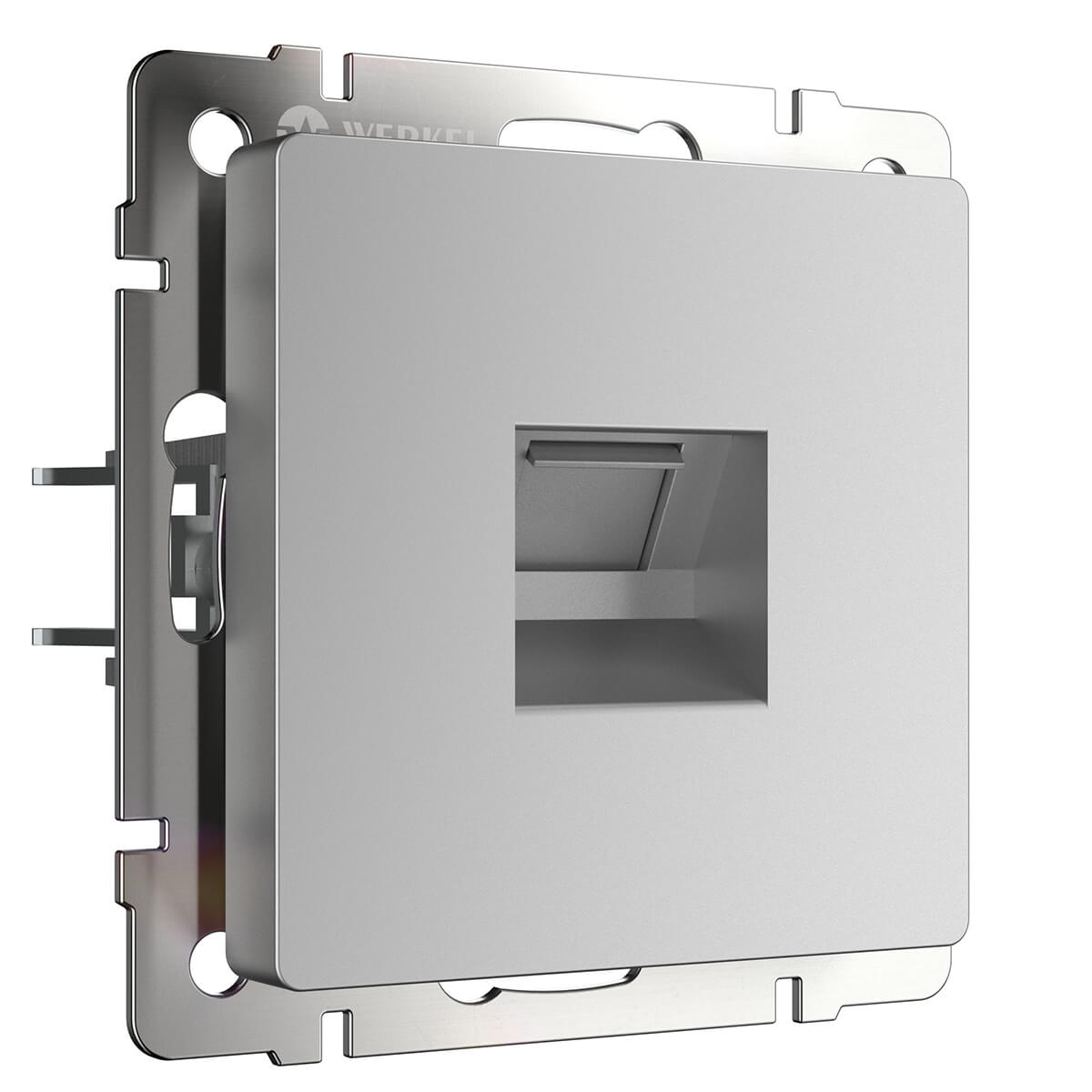 Розетка Ethernet RJ-45 серебряный WL06-RJ-45 4690389053931 розетка телефонная rj 11 werkel antik серебряный wl06 dm600 wl06 rj 11