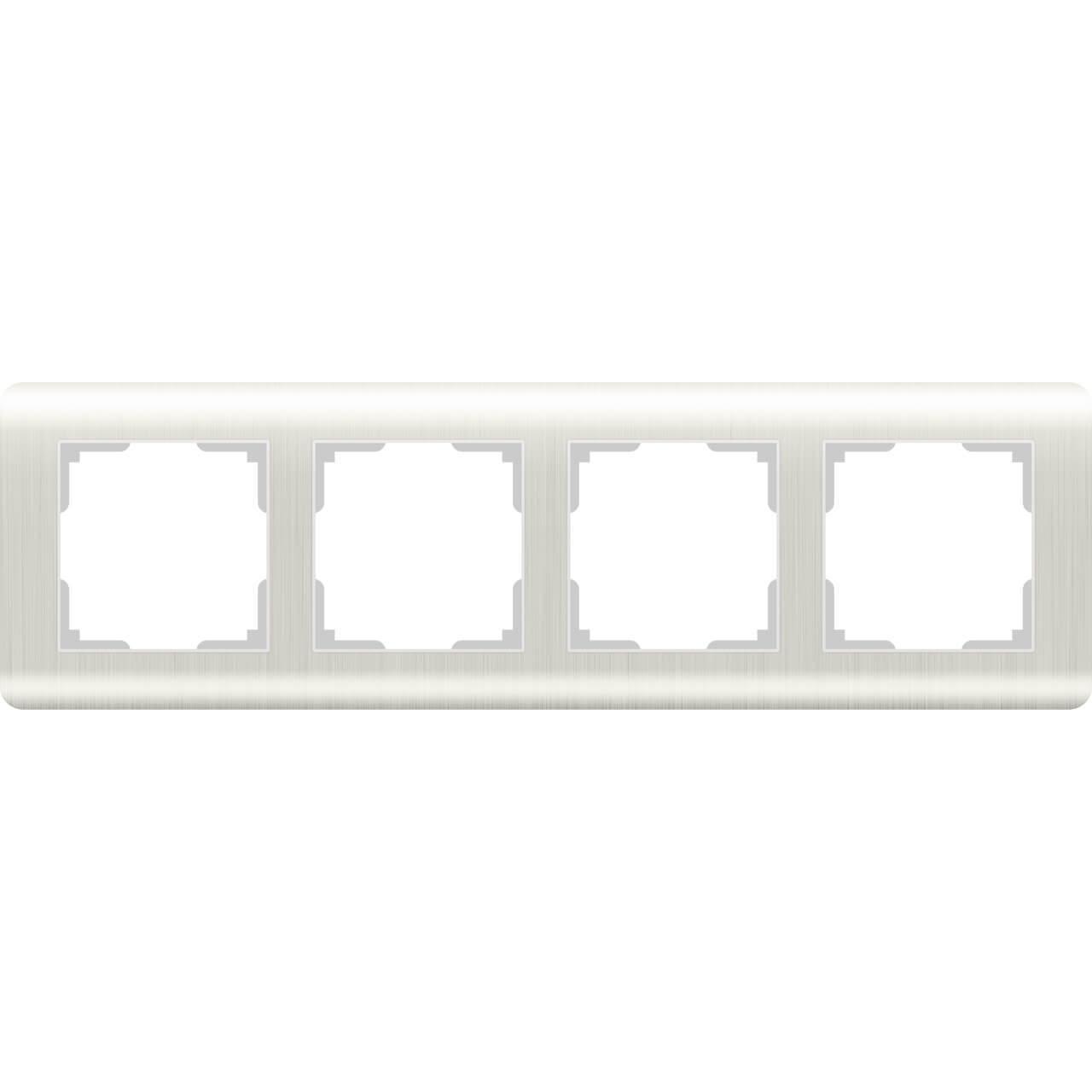 цена Рамка Stream на 4 поста перламутровый WL12-Frame-04 4690389123030 онлайн в 2017 году