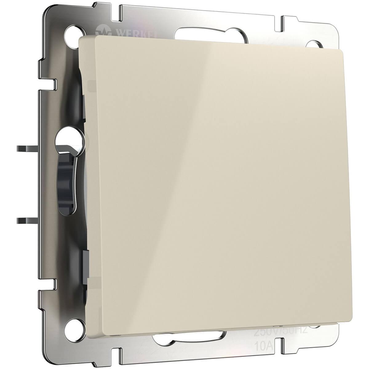 Выключатель одноклавишный слоновая кость WL03-SW-1G-ivory 4690389046148 выключатель одноклавишный с подсветкой слоновая кость wl03 sw 1g led ivory 4690389059261