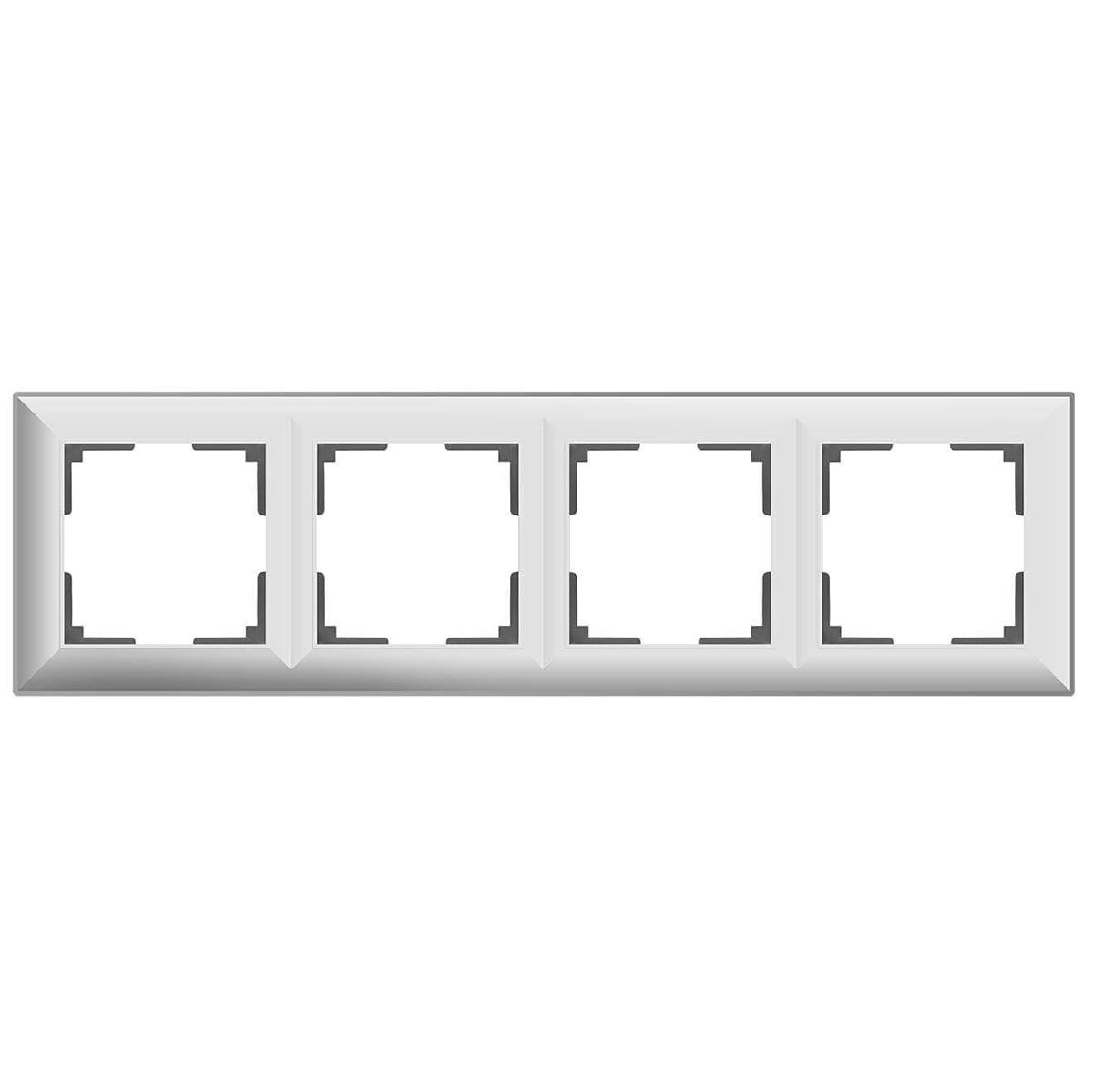 цена Рамка Fiore на 4 поста белый WL14-Frame-04 4690389109157 онлайн в 2017 году