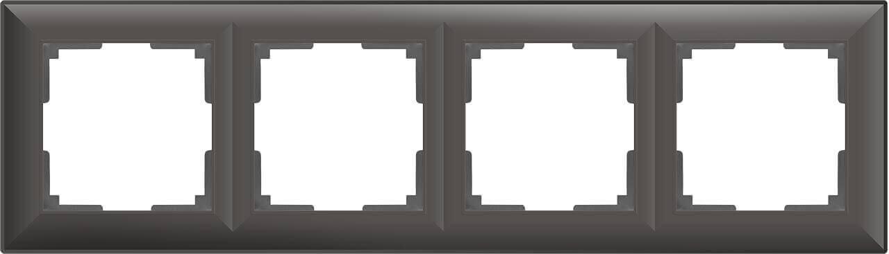 цена Рамка Fiore на 4 поста серо-коричневый WL14-Frame-04 4690389109171 онлайн в 2017 году