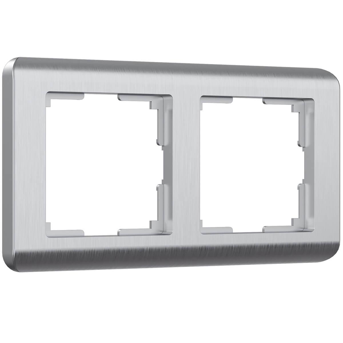 цена Рамка Stream на 2 поста серебряный WL12-Frame-02 4690389076374 онлайн в 2017 году