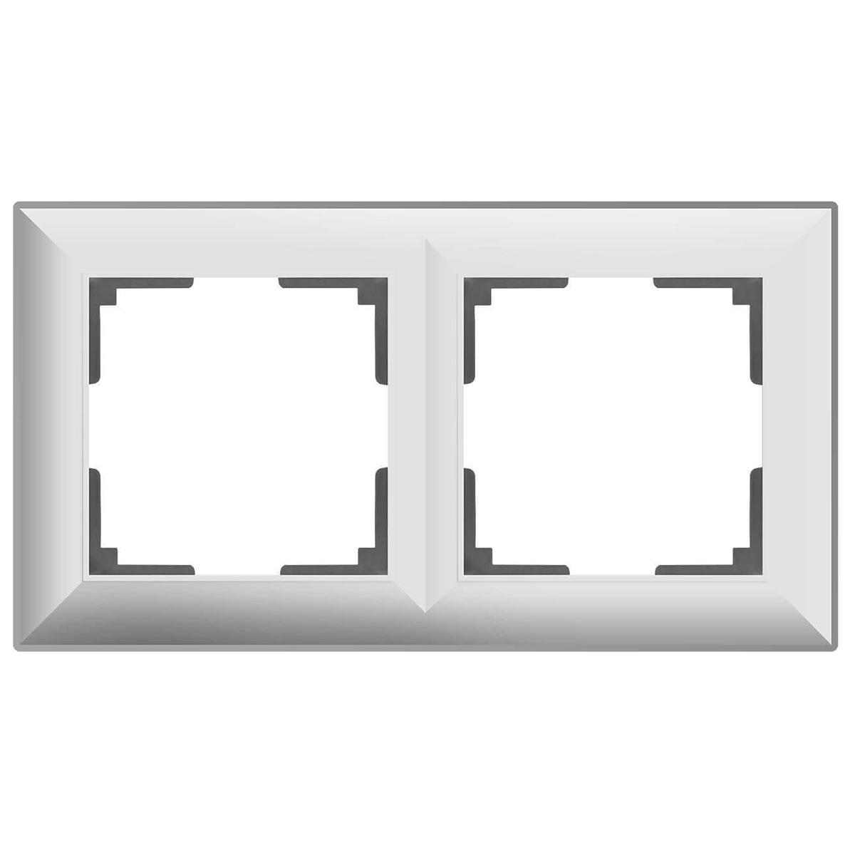 цена Рамка Fiore на 2 поста белый WL14-Frame-02 4690389109072 онлайн в 2017 году