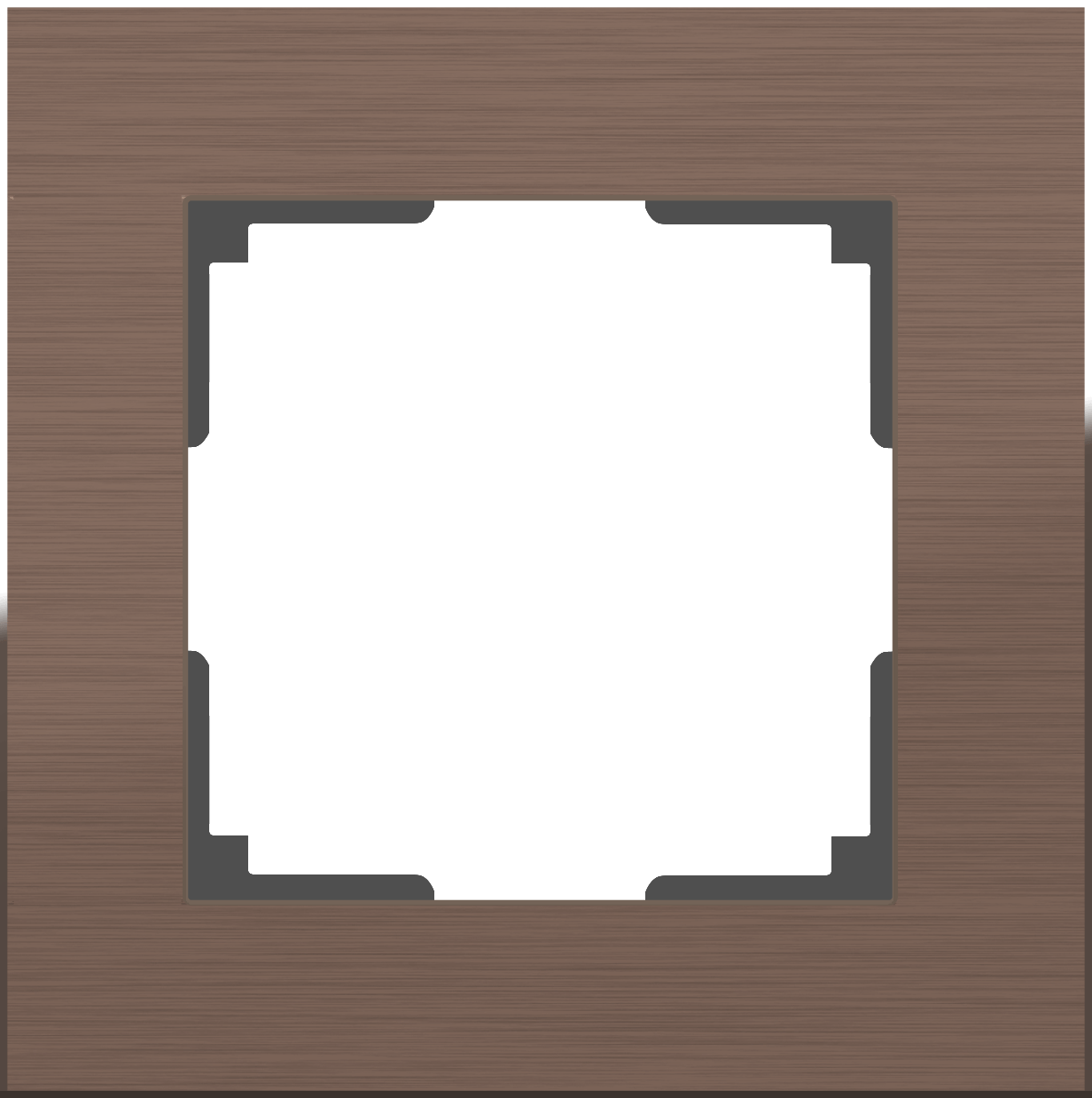 Рамка Aluminium на 1 пост алюминий коричневый WL11-Frame-01 4690389073687 цена и фото