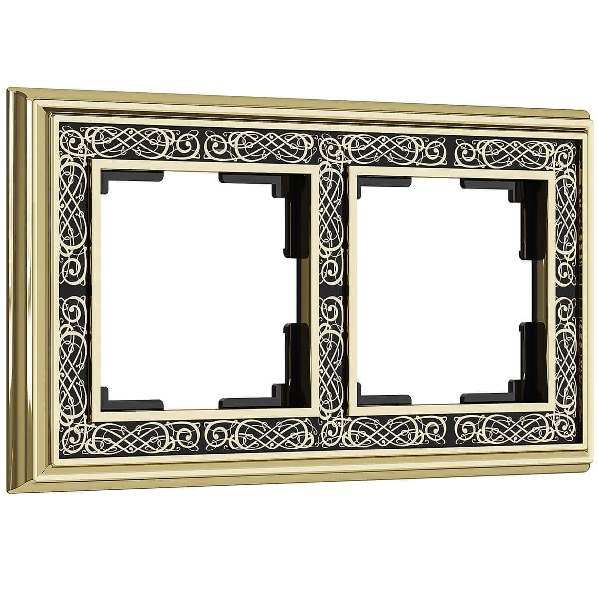 Рамка Palacio Gracia на 2 поста золото/черный WL77-Frame-02 4690389126055