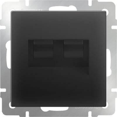 Розетка телефонная RJ-11 и Ethernet RJ-45 черный матовый WL08-RJ11+RJ45 4690389054266 цены онлайн