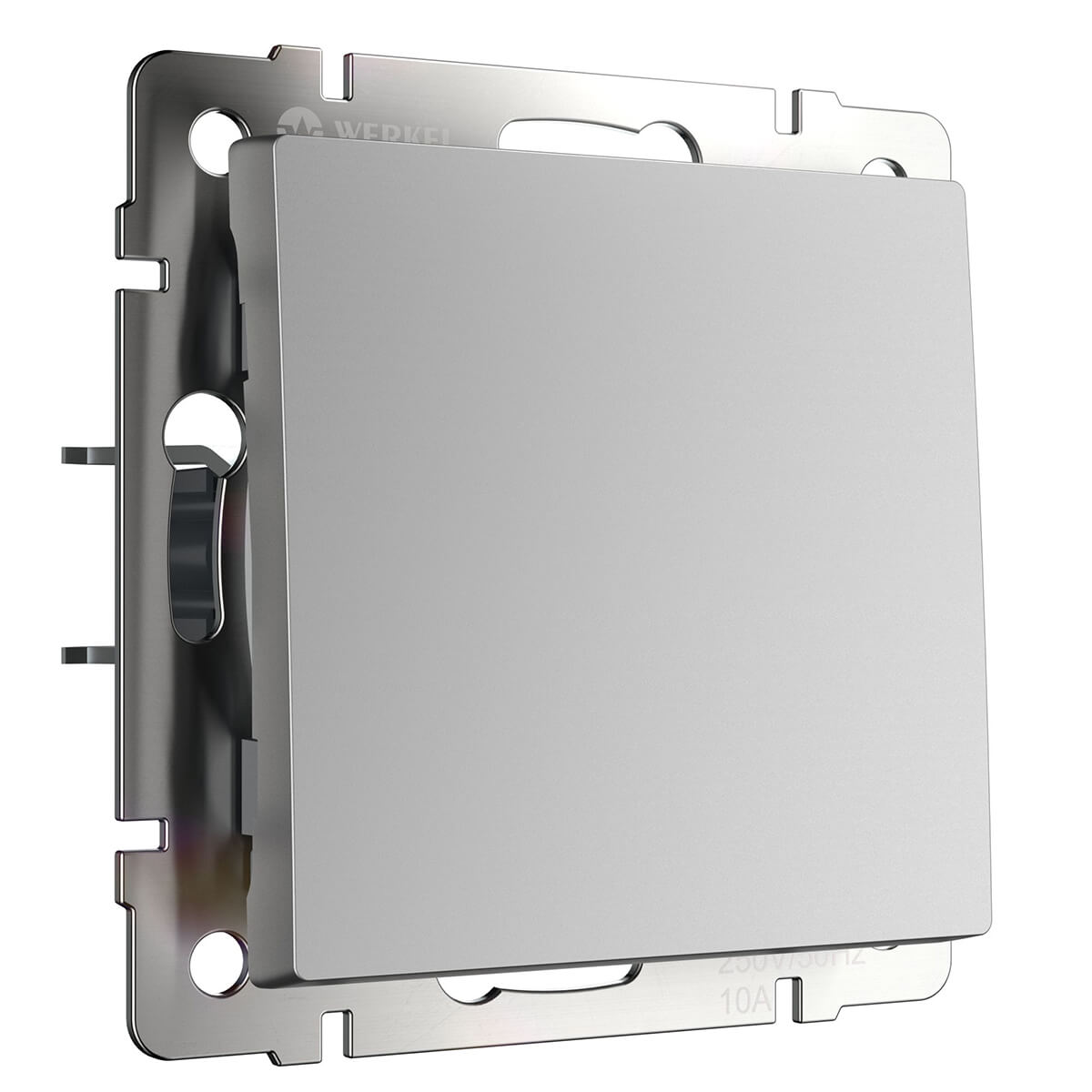 Выключатель одноклавишный серебряный WL06-SW-1G 4690389053818 перекрестный переключатель одноклавишный серебряный wl06 sw 1g c 4690389073595