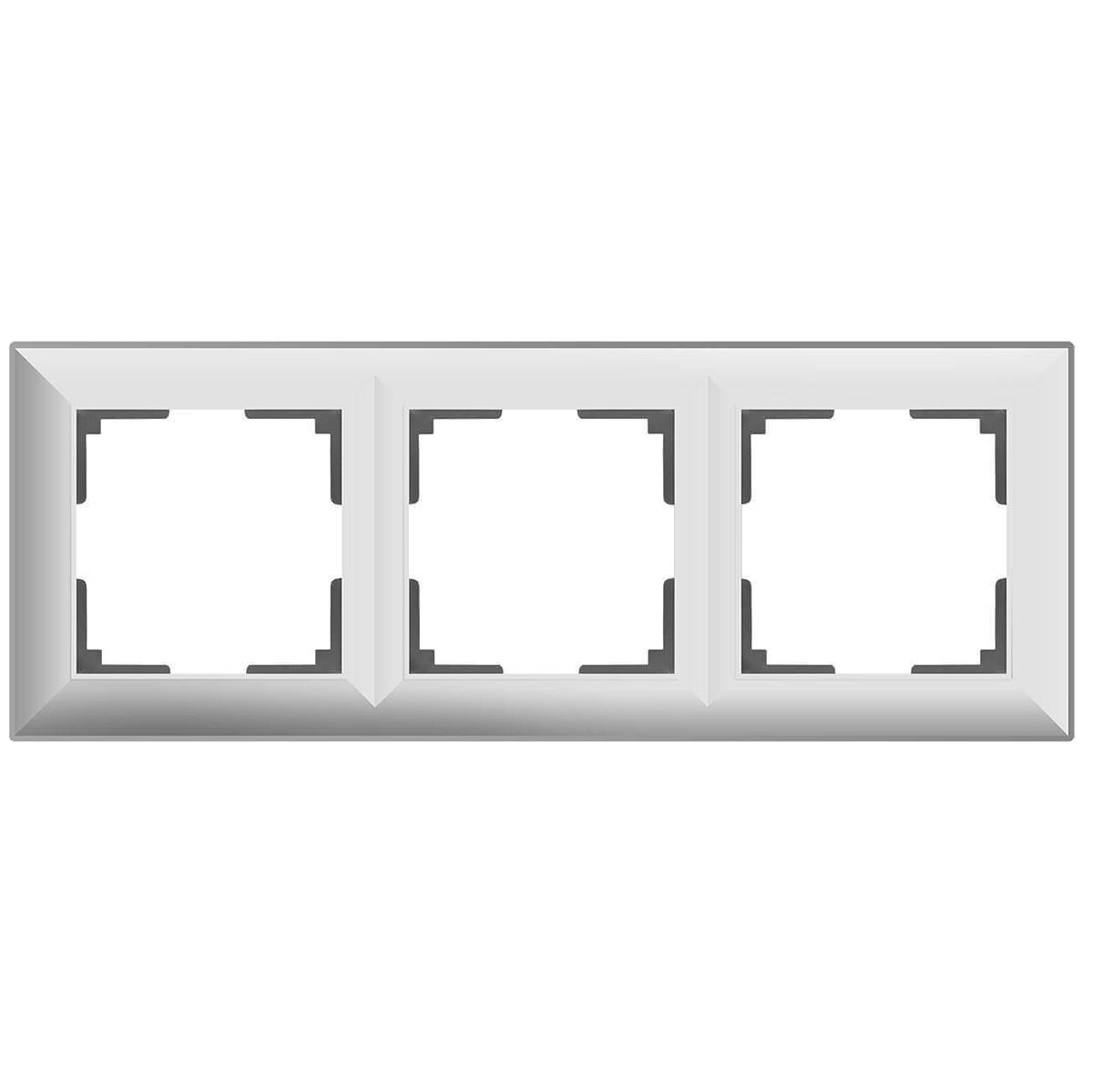 цена Рамка Fiore на 3 поста белый WL14-Frame-03 4690389109119 онлайн в 2017 году