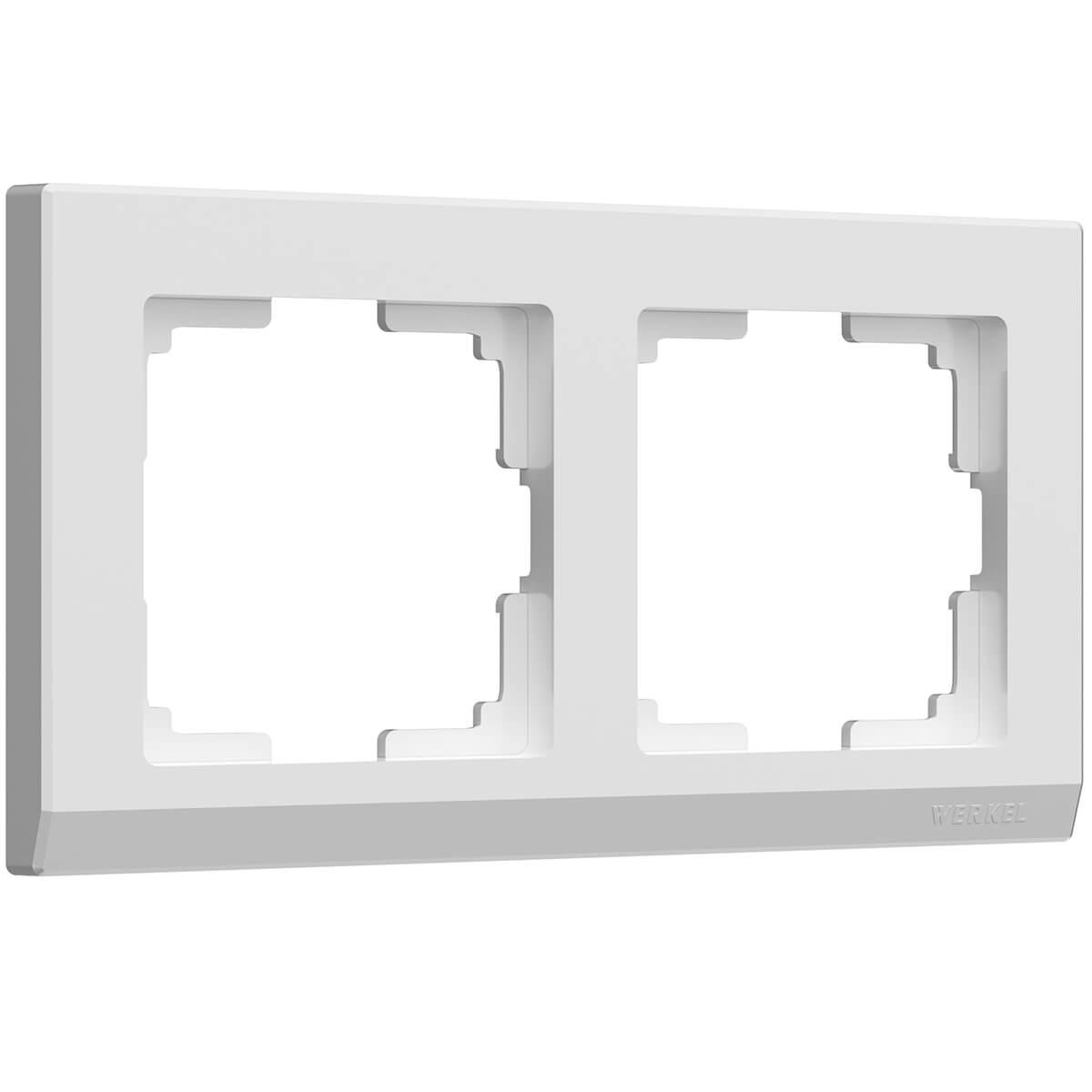 Рамка Stark на 2 поста белый WL04-Frame-02-white 4690389047114 цена