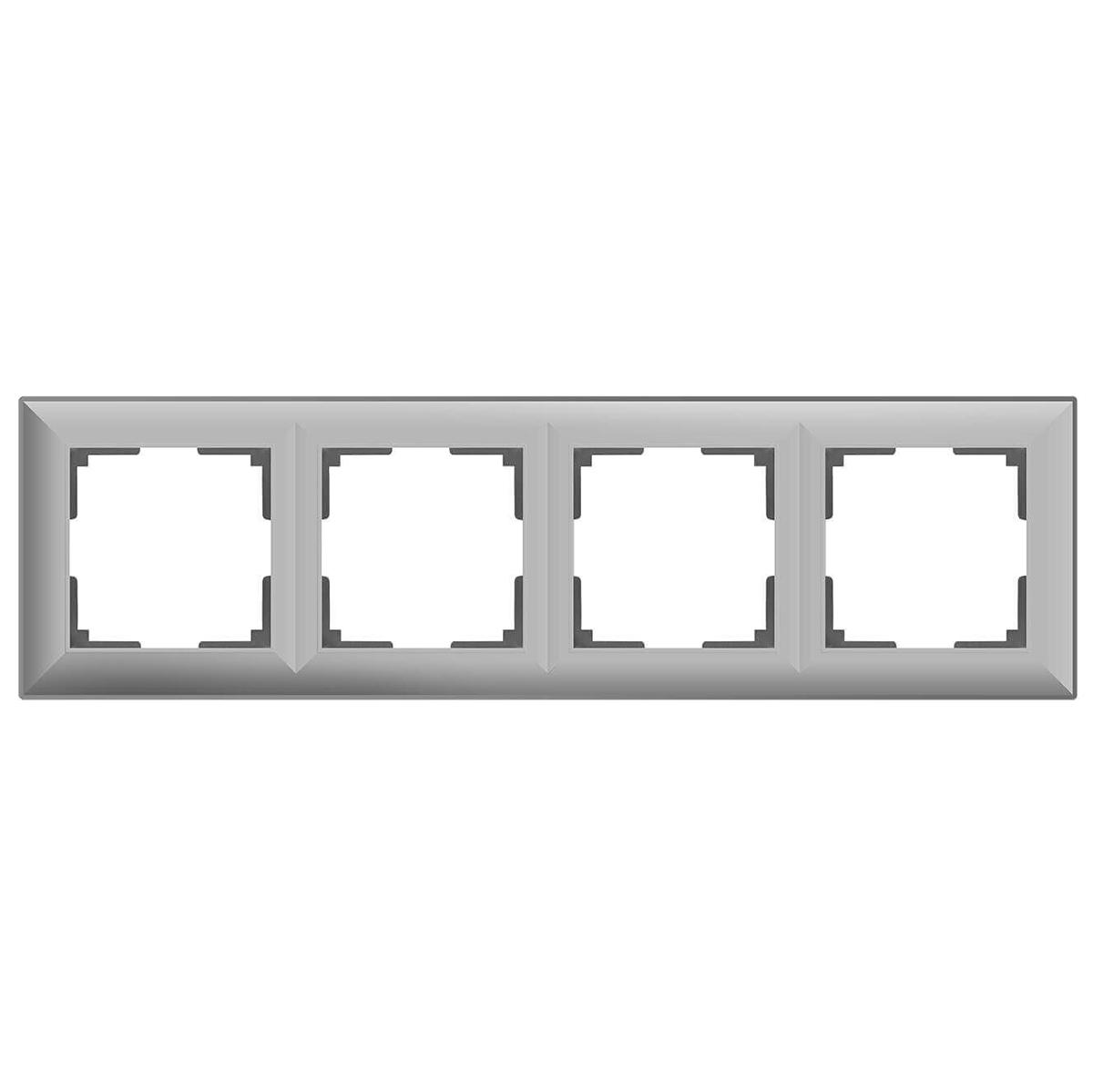 цена Рамка Fiore на 4 поста серебряный WL14-Frame-04 4690389109164 онлайн в 2017 году